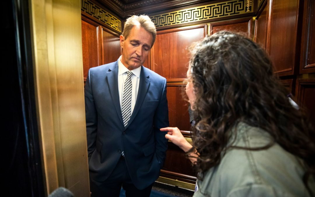 I confronted Jeff Flake over Brett Kavanaugh. Survivors like me won't stand for injustice.